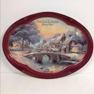 Thomas Kinkade Painted Of Light Cobblestone Tray